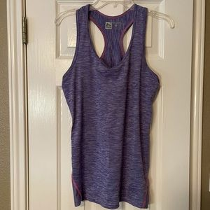 RBX Workout Tank Purple with Pink Size Medium
